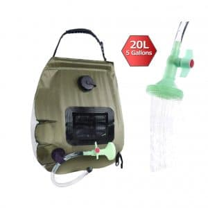 20L Solar Heating Premium Ourdoor Shower Bag Removable Hose on//off Switchable