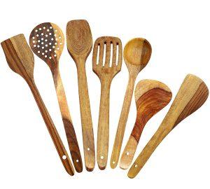 ITOSE65 Handmade Wooden Spoons Serving Utensils