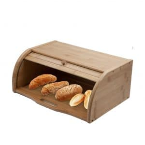 LALIFIT Wooden Roll Top Bread Box