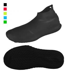 Derui Waterproof Silicone Shoe Covers,Anti-Slip Shoes Cover,Reusable,Easy to Carry for Kids,Women,Men.