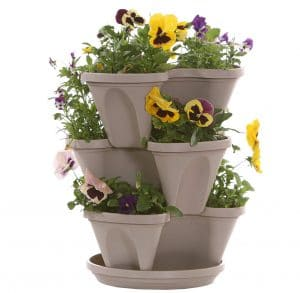 Nancy Janes Stacking Planters Stone Color