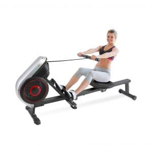 SereneLife Rowing Machine Air and Magnetic Rowing Machine