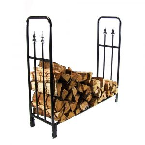 Sunnydaze Décor 4-Foot Decorative Firewood Log Rack