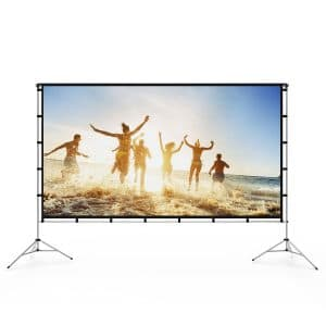 Vamvo Outdoor Projector Screen with a Stand for Home Theater and Recreational Events