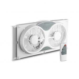 BOVADO USA Electronically Reversible Comfort zone Twin Window Fan