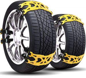 Buyplus Tire Chains for Cars Anti-Slip Snow Chain