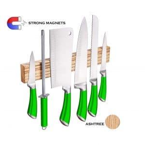 Eco Deco Magnetic Knife Strip Wooden Magnetic Knife Holder