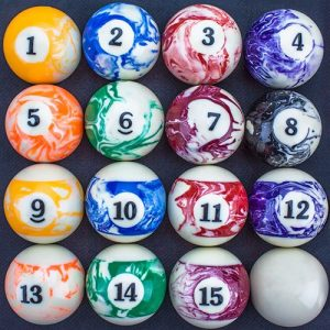 Felson Marbled Pool Table Billiard Supplies Billiard Ball Set