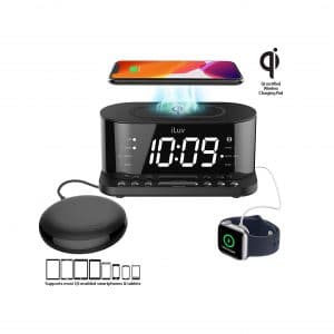 I LUV LTD 5Q Wireless Time Shaker Charger with Dual Alarm