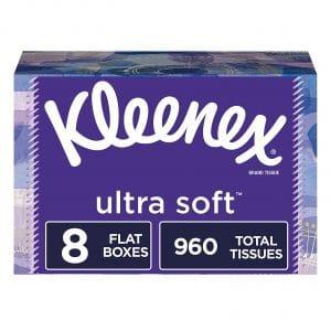 Kleenex Ultra-Soft 8 Flat Boxes Facial Tissues