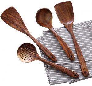 NAYAHOSE Wooden Kitchen Utensil Set