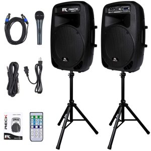 PRORECK Dance 15-Inch Portable 2000W 2-Way Party Speakers