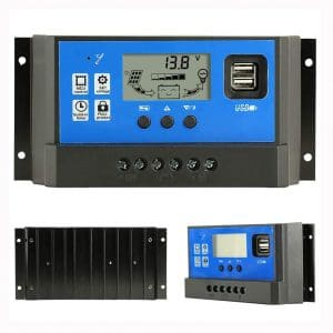 PowMr 40A Charge Controller - Solar Panel Charge Controller 12V 24V,Adjustable Parameter LCD Display Current:Capacity and Timer Setting ON:Off Solar Regulator with 5V Dual USB(CM-40A)