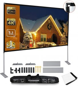 Ayaoqiang 120 Outdoor Projector Screen with Carrying Bag