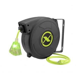 Flexzilla Retractable Extension 50FT Outlet Electric Cord Reel