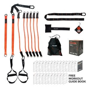 Vulken Suspension Trainer CoreSlings Full Body Workouts with Resistance Bands