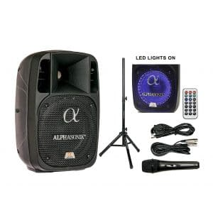 Alphasonik 8-Inch 1200W Amplified Loud Party Speaker