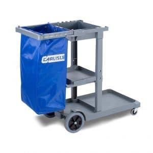 Carlisle Polyethylene Short Platform Janitorial Cart