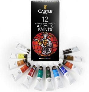 Castle Art Supplies Paint Set - 12 Colors in Tubes