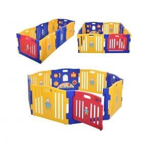 JAXPETY Baby Playpen Kids 8-Panel