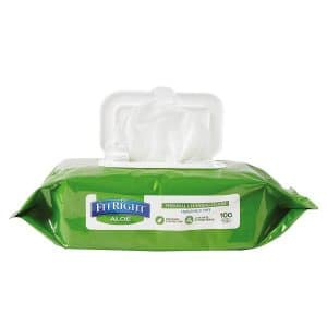 Medline FitRight Aloe Cleansing Cloth Wipes