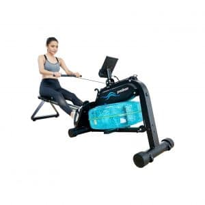 Pooboo Magnetic Water Rowing Machine with LCD Monitor