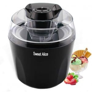 Sweet Alice Ice Cream Machine with an Automatic Shut-off Timer, BPA-free