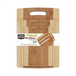 Utopia Kitchen Natural Bamboo Cutting Boards