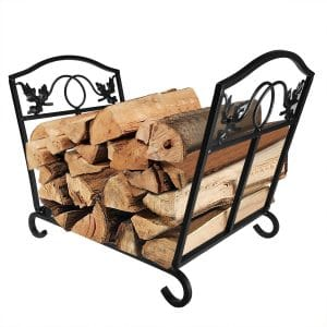 AMAGABELI Fireplace Firewood Rack