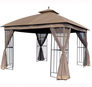 APEX GARDEN Universal 10' x 10' Gazebo Replacement Mosquito Netting (Mosquito Net Only, Size- 10 ft x 10 ft) (Tan)