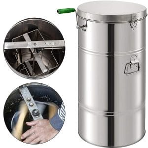 Pro 3//6 Frame Stainless Steel Manual Bee Honey Extractor Beekeeping Equipment