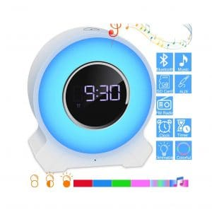 EVISTR Bedroom Bluetooth Speaker Bedside Alarm Clock