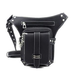 FiveloveTwo Men Women PU Leather Drop Leg Bag