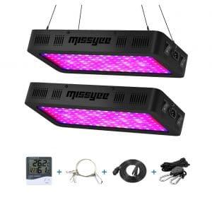 Missyee 1200W LED Grow Light Spectrum Plant Light