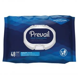Prevail Incontinence Washcloths 48 Count Pack of 12