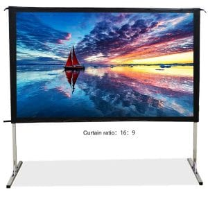 SW-Lamp Projector Screen with a Stand