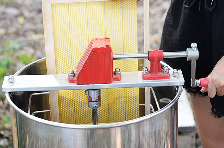 Happybuy 4 Frame Manual Honey Extractor Stainless Steel Honeycomb Spinner Crank Beekeeping Equipment