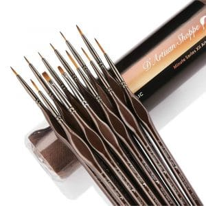 D'Artisan Shoppe Miniature 12pc Detail Paint Brushes Set
