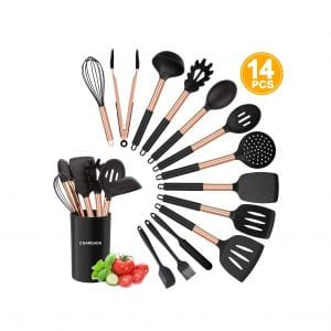 CHAREADA Silicone Cooking Utensil Set, 14-Pieces