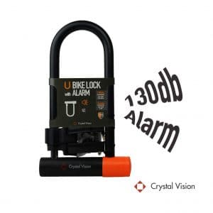 Crystal Vision Technology 130db 14mm Heavy-Duty Bike U LOCK