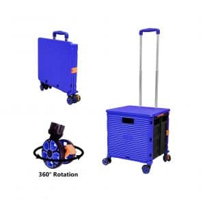 FELICON Foldable Utility Cart with Four Wheels