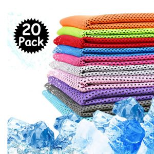 Peicees 20 Pack Microfiber Cooling Neck Towels