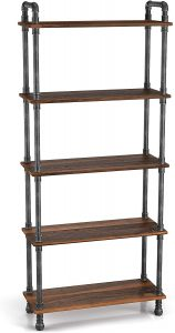 Barnyard Designs Furniture 5-Tier Bookcase Shelf