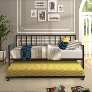 Harper & Bright Designs Metal Daybed with Trundle
