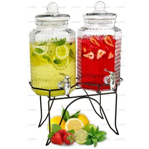 Lux 'n Lavish Cold Beverage Dispensers - Elegant Party Buffet Centerpiece