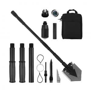 Yeacool Folding Shovel with a Carrying Pouch