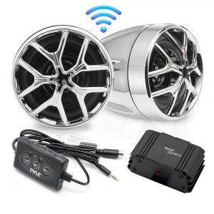 Pyle PLMCA51BT Bluetooth Audio Streaming Weatherproof Speaker-Set of 2