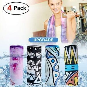 DARUNAXY 4-Pack Evaporative Cooling Towels