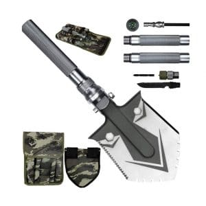 KEPEAK Military Folding Shovel with a Tactical Waist Pack