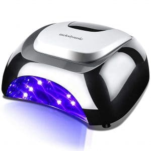 MelodySusie LED UV Nail Lamp Salon, Professional LED Gel Nail Dryer Nail Light with 3 Timer Controls LG Super Chip Fast Curing LED UV Gel Nail Polish for Salon